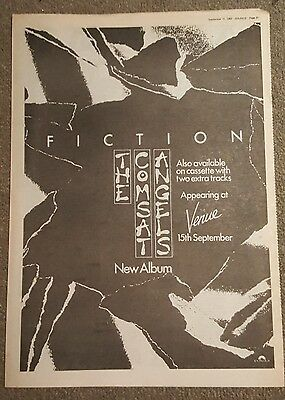 The Comsat Angels Fiction 1982 press advert Full page 30 x 42cm mini poster