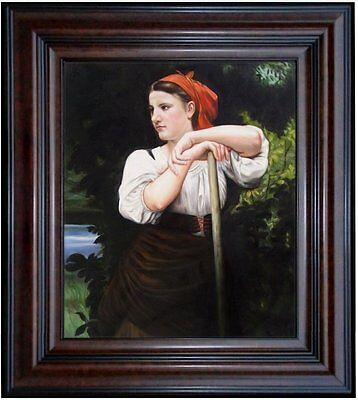 Framed Hand Painted Oil Painting, Repro Bouguereau The Haymaker, 20x24in