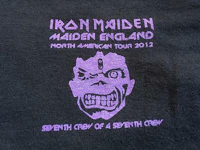 IRON MAIDEN - North America Tour 2012 - 7TH CREW OF A 7TH CREW SHIRT -- XL