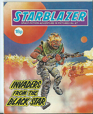 Invaders From The Black Star,starblazer Space Fiction Adventure In Pictures,87