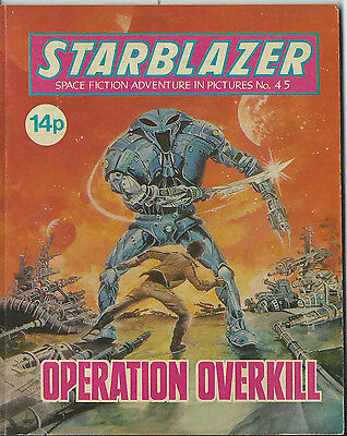 Operation Overkill,starblazer Space Fiction Adventure In Pictures,no.45,1981