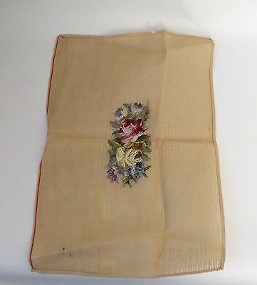 Pre trammed tapestry canvas Needlepoint 23  X 20 inches some  wool included ROSE