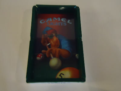 Vintage 1992 CAMEL LIGHTS Ash Tray Picture Pool Table Smoking Joe Cigarettes