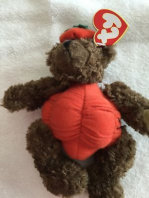 "Ty  ""peter"" Attic Treasure ""trick Or Treat"" Bear As A Pumpkin - Mint W/mint Tag"