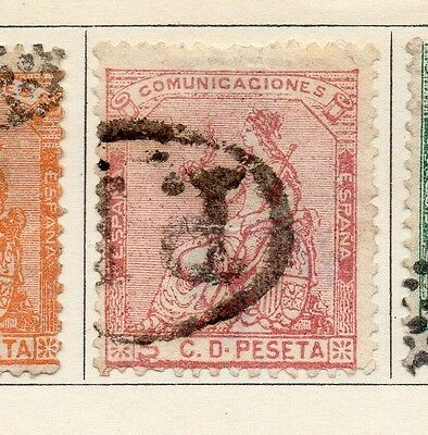 Spain 1873 Early Issue Fine Used 5c. 128028