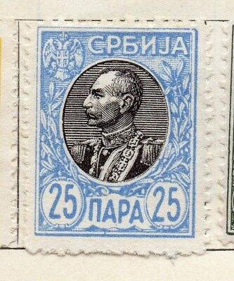 Serbia 1905 Early Issue Fine Mint Hinged 25p. 128155