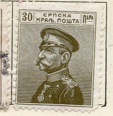 Serbia 1914 Early Issue Fine Mint Hinged 30p. 128175