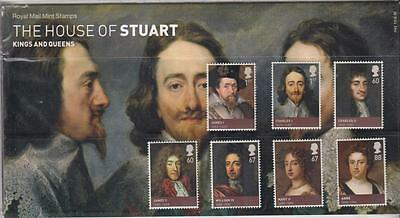 GB 2010 KINGS & QUEENS HOUSE of STUART INCLUDES S/SHEET PRESENTATION PACK No.443