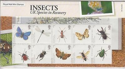 GB 2008 ACTION for SPECIES INSECTS PRESENTATION PACK No.412 PO FRESH