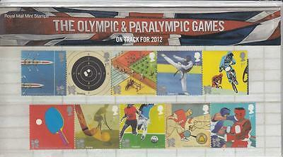GB 2010 OLYMPIC & PARALYMPIC GAMES PRESENTATION PACK No.444 PO FRESH