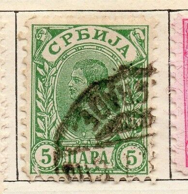 Serbia 1894 Early Issue Fine Used 5p. 128180
