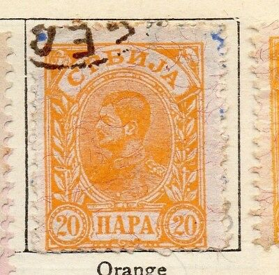 Serbia 1894 Early Issue Fine Used 20p. 128183