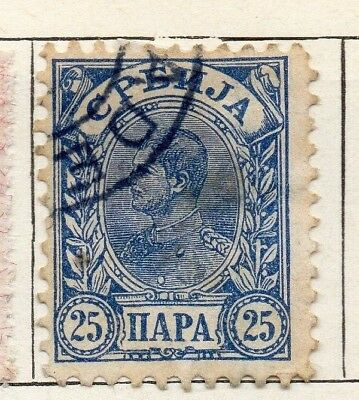 Serbia 1894 Early Issue Fine Used 25p. 128186
