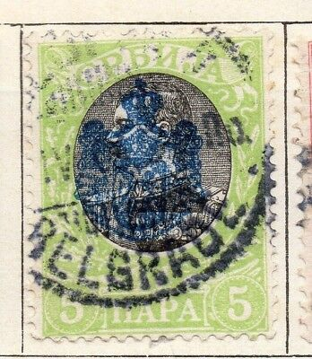 Serbia 1903  Early Issue Fine Used 5p. 128199
