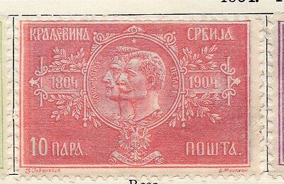 Serbia 1904 Early Issue Fine Mint Hinged 10p. 128206