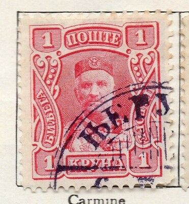 Montenegro 1907 Early Issue Fine Mint Hinged 1kr. 128222