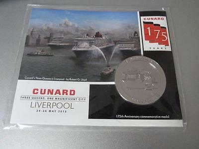 Cunard 175 Years Anniversary Three Queens Liverpool May 2015 Commemorative Medal