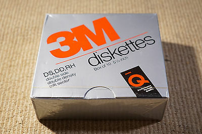 "10 x 3M DS DD 5 1/4"" Floppy Diskettes New Sealed"