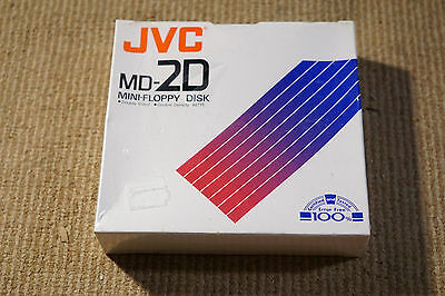 NEW 10 x JVC Floppy Disks Double Sided Density MD-2D