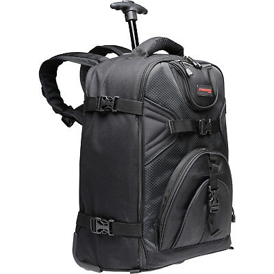 Precision Design PD-BPT Digital SLR Camera Backpack Bag Case with Wheels