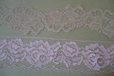 Vintage Lace. Lilac/Pink Tones (choice of 2)  3 Metres