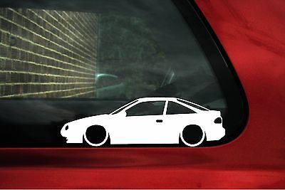 2x LOW 'Nissan 100nx' lowered outline stickers, decals