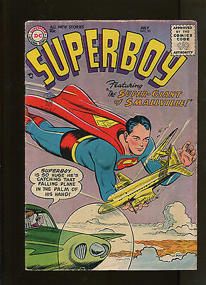 Superboy #50 (4.5) The Super-Giant Of Smallville!