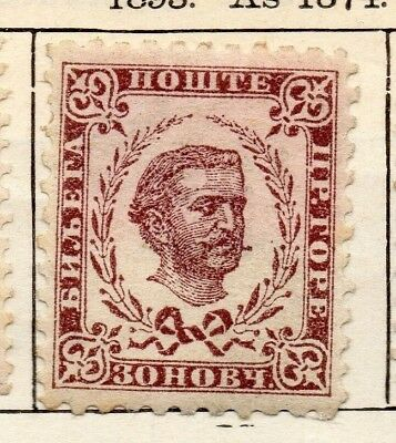 Montenegro 1893 Early Issue Fine Mint Hinged 30n. 128333