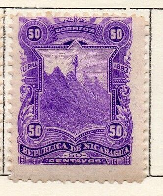 Nicaragua 1893 Early Issue Fine Mint Hinged 50c. 128412