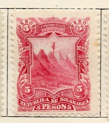 Nicaragua 1893 Early Issue Fine Mint Hinged 5P. 128414