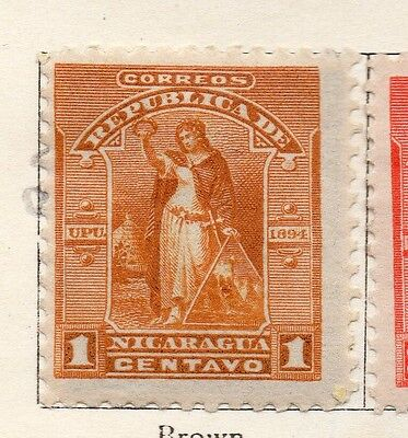 Nicaragua 1894 Early Issue Fine Mint Hinged 1c. 128416
