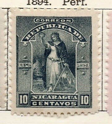 Nicaragua 1894 Early Issue Fine Mint Hinged 10c. 128419