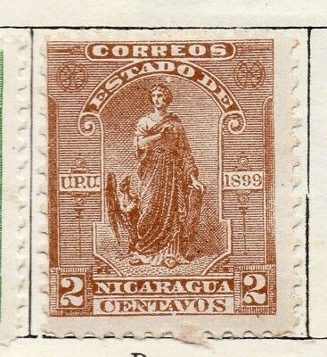 Nicaragua 1899 Early Issue Fine Mint Hinged 2c. 128452