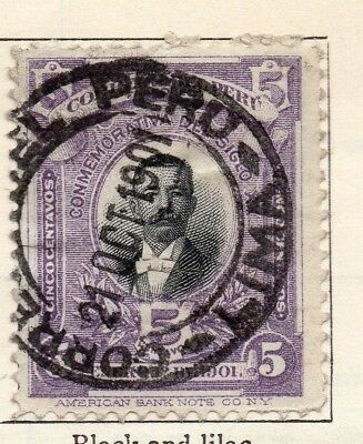 Peru 1901 Early Issue Fine Used 5c. 128609