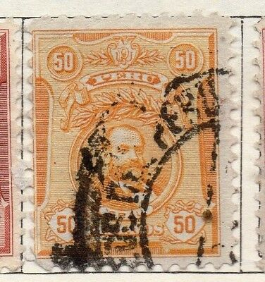 Peru 1909 Early Issue Fine Used 50c. 128646