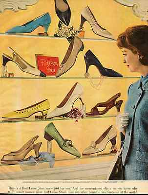 1960s vintage ad for Red Cross Women's Shoes  -010512