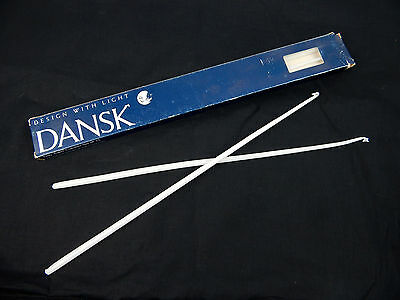 """Vintage 1 New box (12pc.) Dansk Skinny Tapers Candles 16.5"""" White"""