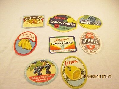 Vintage Unused Soda and Other Drink Labels #27
