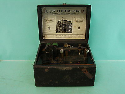 Antique Dr. Guy Clifford Powell Electro-Vibratory Apparatus Quack Medical Device