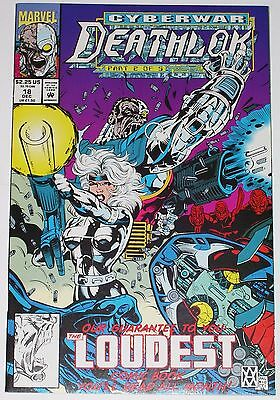 Deathlok #18 from Dec 1992 VF/NM to NM Silver Sable