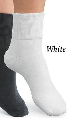 Womens Buster Brown 100% Cotton Ankle Socks White Size 11