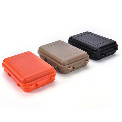 Small size!Outdoor Shockproof Waterproof Airtight Survival Storage Case Boxes HU