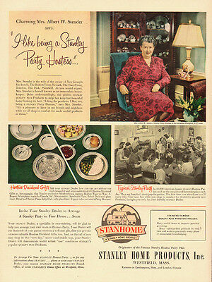 1951 vintage Ad,  Stanley Party Hostess, Stanhome, Stanley Home Products -102313