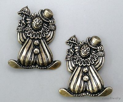 #3363 SMALL ANTIQUED GOLD CLOWN BROOCH - 1 Pc Lot