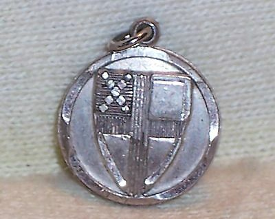 VINTAGE Sterling Silver I AM AN EPISCOPALIAN SHIELD on DISC Medal / Charm