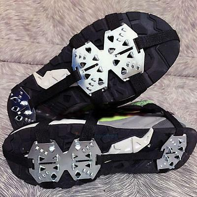 Anti-Slip Ice Snow Men Shoes Spike Grip Crampons Grippers Rock Fishing Climbing