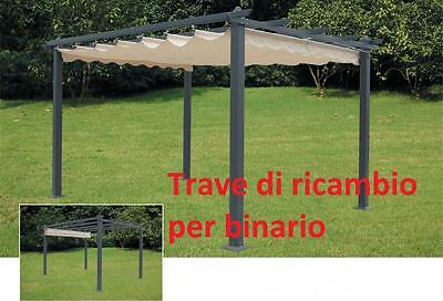 beam stand replacement without track cm 3x6x384 per pergola 3x4 mt