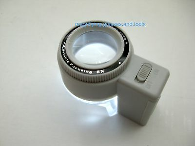 Scale measuring magnifier magnifying glass LED light