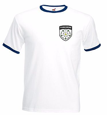 efecc129 York Yorkshire White Rose T-Shirt - Ideal For Fans Of Cricket Team - All