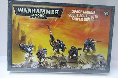 Warhammer 40k Space Marines Space Marine Scout Sniper Squad In Box (wDLY)